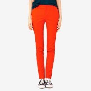 Kate Spade Saturday | Orange Skinny Modern Pants